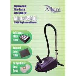 ALLURE Vacuum cleaner filter DUST BAG & FILTER PACK FOR V5001